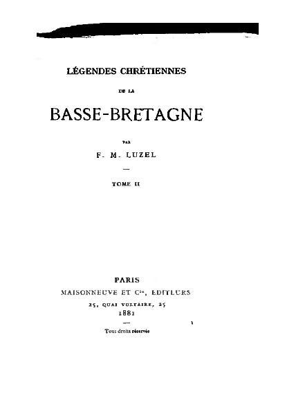 File:Luzel - Légendes chrétiennes, volume 2, 1881.djvu