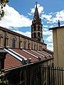 Lyon 1er - Église du Bon Pasteur, clocher depuis la rue du Bon Pasteur.jpg