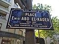 Lyon 7e - Place Émir Abd El-Kader - Plaque (mai 2019).jpg