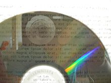 M-DISC optical storage media transparency demonstration
