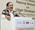 M. Venkaiah Naidu addressing at the inauguration of the National Workshop on Urban Development to discuss the major urban sector reforms and six new initiatives with States and UTs, in New Delhi.jpg