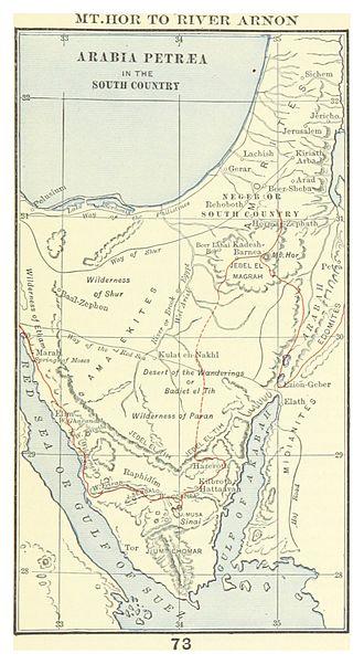 Horites - Map of Horites lands