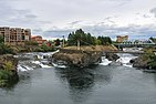 Upper Spokane Falls flowing by snxw meneɂ
