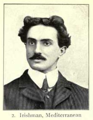 Mediterranean race - Irishman of Mediterranean type, from Augustus Henry Keane's Man, Past and Present (1899).
