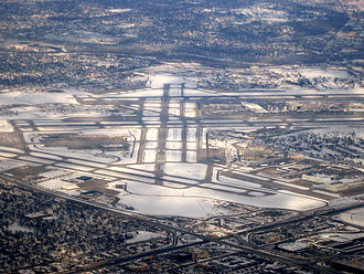 Minneapolis–Saint Paul International Airport - MSP airport in 2009 looking towards the northeast.