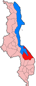 Location of Mangochi District in Malawi