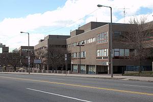 Madison Park Technical Vocational High School - The front exterior of Madison Park High School in Roxbury