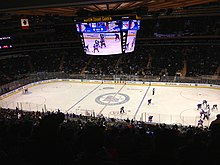 The Completely Transformed Madison Square Garden In January 2014 (with A  New HD Scoreboard), As The New York Rangers Play Against The St. Louis  Blues.