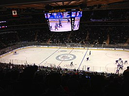 IJshockeywedstrijd in Madison Square Garden