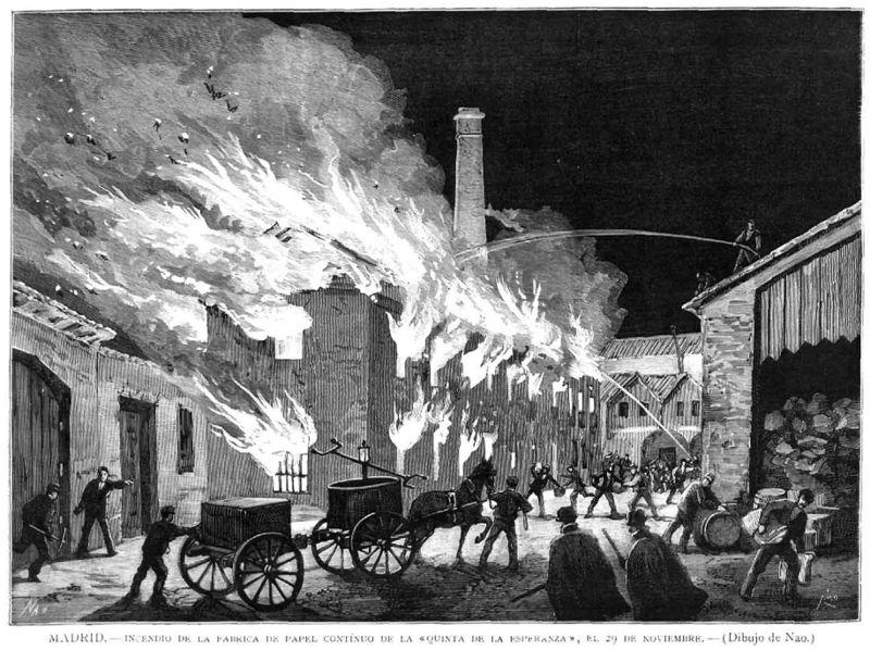 File:Madrid, incendio de la fábrica de papel continuo de la «Quinta de la Esperanza», el 29 de noviembre.jpg