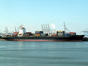 Maersk Palermo, Port of Rotterdam, Holland 12-Mar-2006.jpg