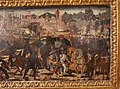 Maestro di san miniato (attr.), fronte di cassone con storie di alessandro, 1450-1500 ca. 04.JPG