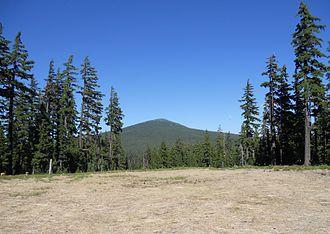 Maiden Peak (Oregon) - Maiden Peak as seen from the north side of Eagle Peak