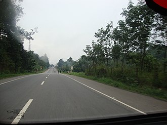 Main Central Road - Highway near Chengannur