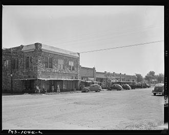 Bokoshe, Oklahoma - Main Street in Bokoshe (1946)