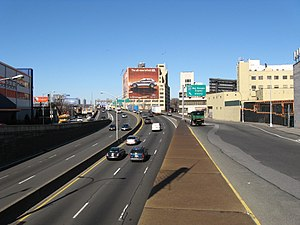 Major Deegan Expressway - Looking north at the Deegan from 138th Street