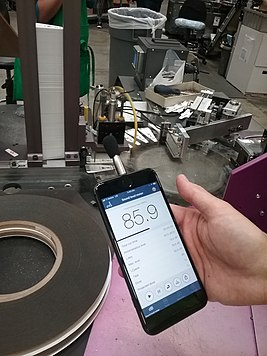 Making a noise measurement using the NIOSH SLM app.jpg