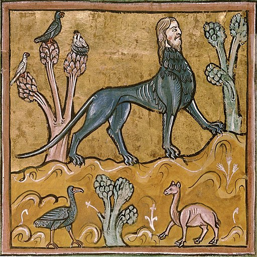 Manticore - British Library Royal 12 F xiii f24v (detail)