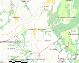 Mapa obce Mirabel-aux-Baronnies
