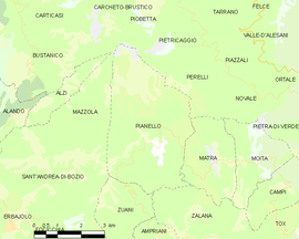 Mapa obce Pianello