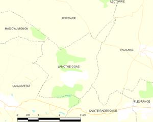 Lamothe Goas And Its Surrounding Communes