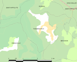 Mapa obce Thannenkirch