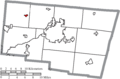 Map of Clark County Ohio Highlighting North Hampton Village.png