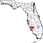 A state map highlighting Charlotte County in the southern part of the state. It is medium in size.