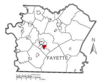 Hopwood, Pennsylvania - Image: Map of Hopwood, Fayette County, Pennsylvania Highlighted