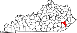Map of Kentucky highlighting Perry County.svg