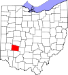 State map highlighting Greene County