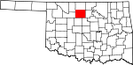 State map highlighting Garfield County
