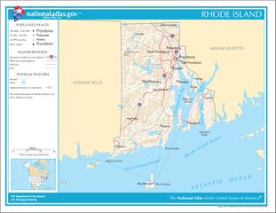 Landkarte Rhode Island