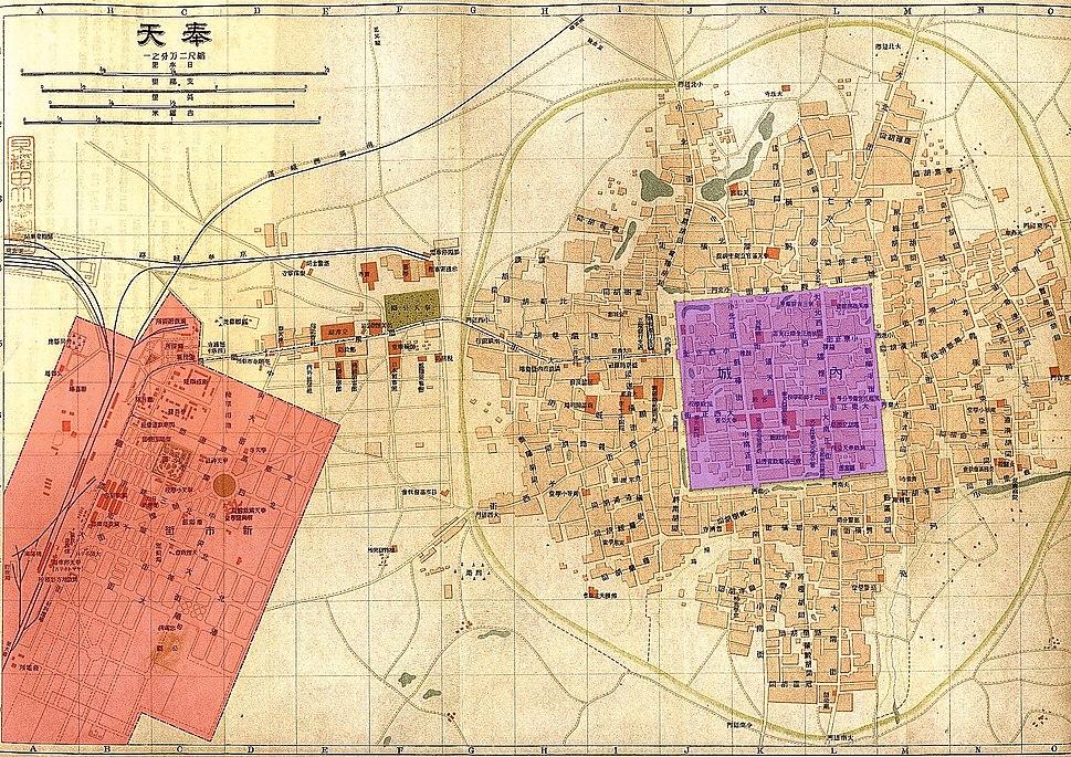 Map of Shenyang in 1919