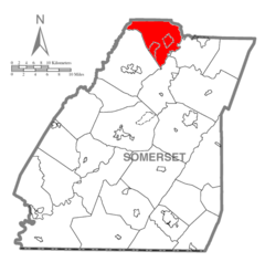 Map of Somerset County, Pennsylvania highlighting Conemaugh Township.PNG