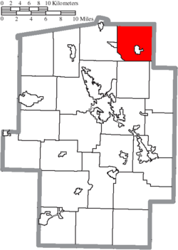 Location of Sandy Township in Tuscarawas County