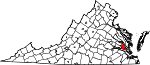 State map highlighting James City County