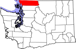 Map of Washington highlighting Whatcom County.svg