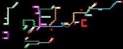 Mapa de red de EuskoTren.