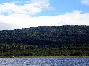 Maple Mountain (Ontario) - Maple Mountain rising over Tupper Lake