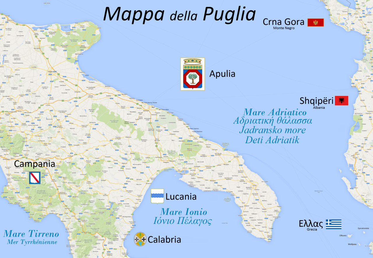 Cartina Campania Mare.File Maps Puglia Iapygia Png Wikimedia Commons