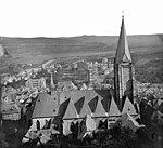 Marburg Pfarrkirche und Südviertel von N Ludwig Bickell ca1878.jpg