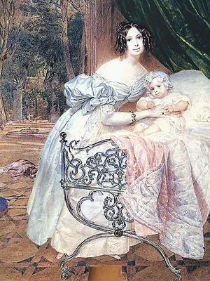 1834 in Russia - Maria Chreptowicz by Briullov