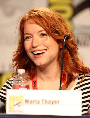 Maria Thayer - Maria Thayer at the 2011 San Diego Comic-Con International.