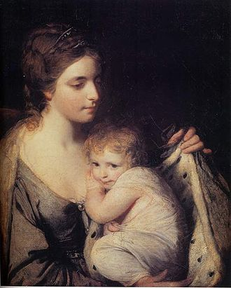 Maria, Duchess of Gloucester and Edinburgh - Maria and her daughter Elizabeth by Sir Joshua Reynolds, 1761.