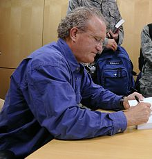 Mark Bowden autographing at Air Force Academy.jpg