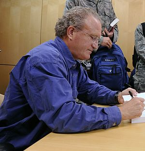 Mark Bowden - Mark Bowden signing a copy of Black Hawk Down at the United States Air Force Academy in 2011