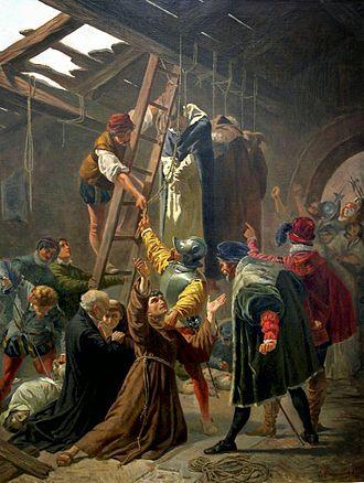 Martyrs of Gorkum - by Cesare Fracassini (1838-1868), Vatican Museum