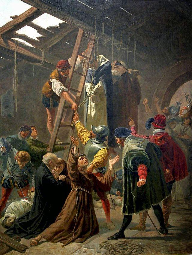 Cesare Fracassino (1838-68): Gorkum-martyrene (1867), gitt av de nederlandske biskopene til pave Pius IX i anledning helligkåringen i 1867, nå i Vatikanmuseet