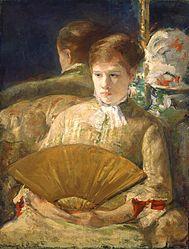 Mary Cassatt: Woman with a Fan